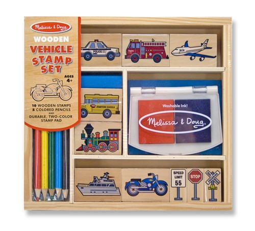 Vehicles-Rubber-Stamp-Set