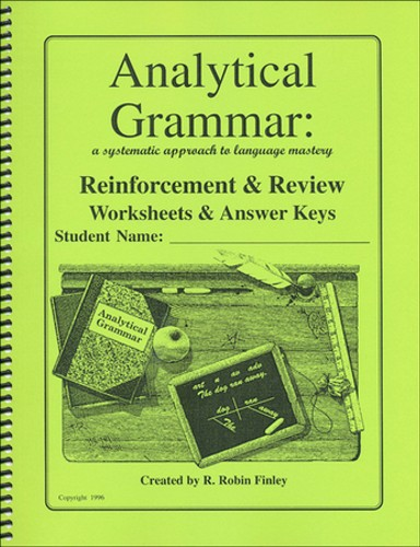 analytical grammar reinforcement review worksheets answer keys ebay. Black Bedroom Furniture Sets. Home Design Ideas